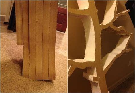 hacer estanterias de madera en forma de arbol decomanitas