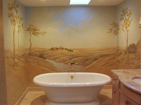 beautiful wall murals design   dream bathroom