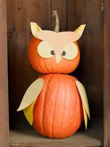 No-Carve Pumpkin Owl