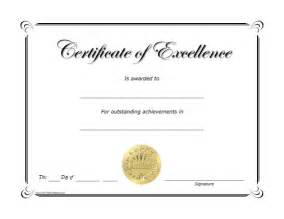 Free Printable Excellence Award Certificate