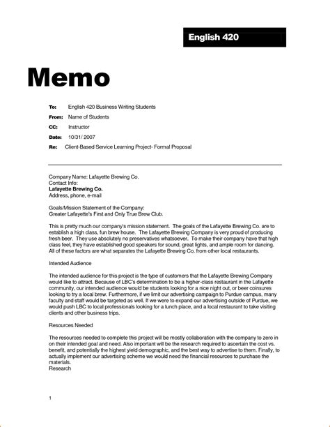 what is a business memo how is a business memo format written