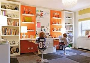 15 cool and wonderful kids room design with office for Kids office ideas