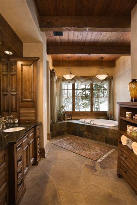 beautiful rustic elegant bathroom   rustic