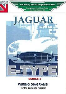 jaguar series 3 e type exploded wiring diagram book 9193