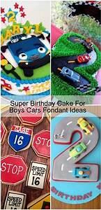 super, birthday, cake, for, boys, cars, fondant, ideas