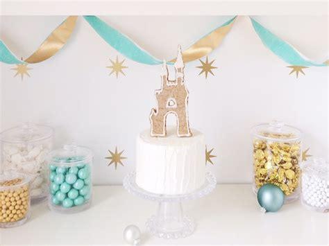 Diy Gingerbread Cinderella Castle Cake Topper