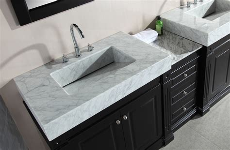 odyssey 88 inch double sink vanity set with trough style sinks