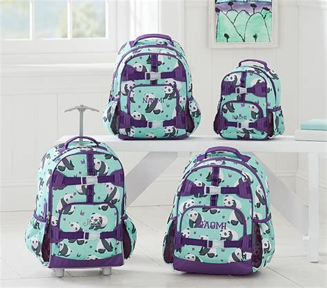 pottery barn backpacks mackenzie aqua panda backpack pottery barn