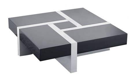 Belle Table Basse Modulable 4 Tiroirs Blanche Et Grise