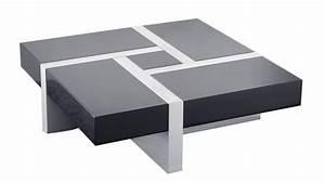 Table De Salon Modulable : table basse design la table basse design 4 tiroirs laholm blanche et grise ~ Teatrodelosmanantiales.com Idées de Décoration