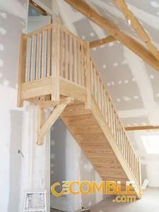 Escalier Droit Bois : c un comble escalier en bois quart droit ~ Premium-room.com Idées de Décoration