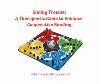 Sibling Therapeutic Therapy Trouble Printable Bonding Cooperative