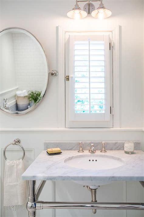 narrow bathroom vanities small bathrooms bathroom window dressed in plantation shutters vanity