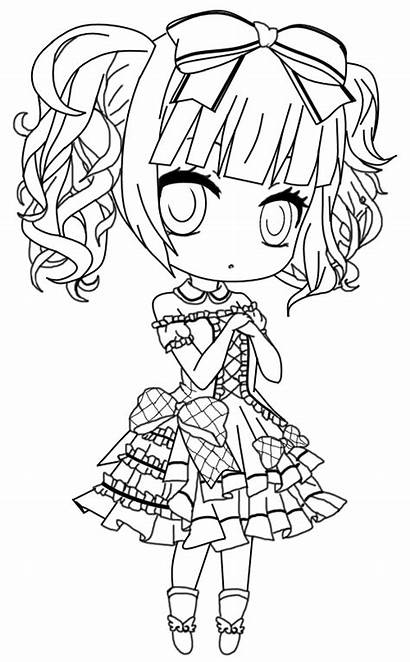 Gothic Pages Chibi Coloring Lolita Lineart Deviantart