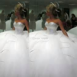 custom made wedding dresses 2014 bling bling big poofy wedding dresses custom made plus size tulle gown