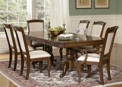 cherry finish double pedestal formal dining table woptions