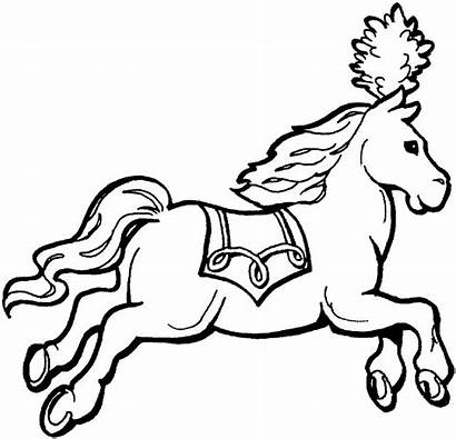 Animals Coloring Circus Land Pages Printable Horse