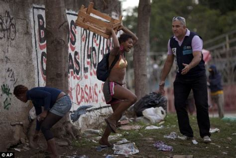 Brazil drug problems: Crack cocaine skid row where users