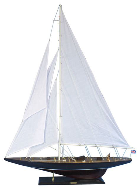 Endeavour 60''  Large Model Sailboat  Wooden Sailboat