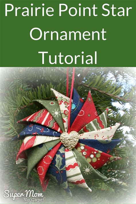 prairie point star ornament tutorial prairie point star