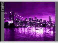 CANVAS PICTURE PRINT PURPLE CITY NEW YORK SKYLINE eBay