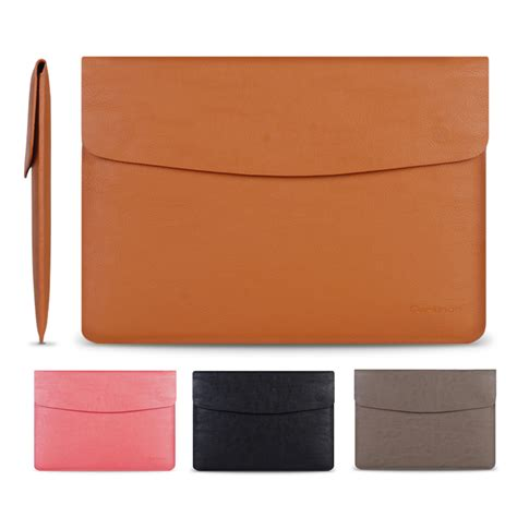 leather laptop sleeve by benever cartinoe brand laptop bag 13 inch ultrathin leather pu