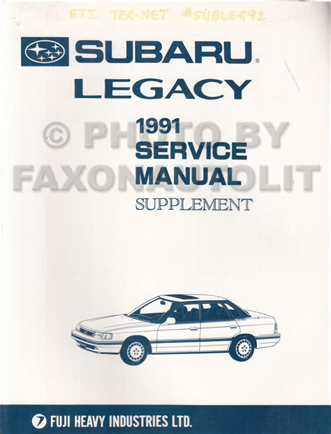 how to download repair manuals 1991 subaru legacy on board diagnostic system 1991 subaru legacy repair shop manual supplement original