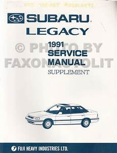 1991 Subaru Legacy Repair Shop Manual 6 Volume Set Original