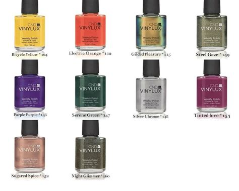 vinylux color chart cnd vinylux lacquer nail choose any 10 colors of
