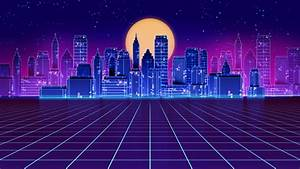 Cyber, Circuit, Landscape, With, Moonlight, Backdrop, Stock