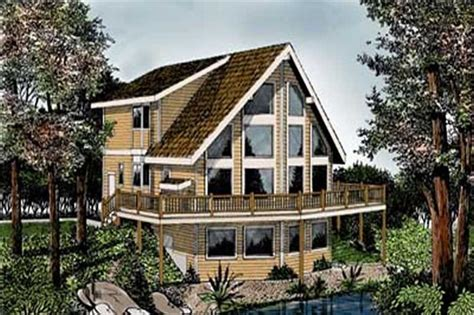 Beachfront, Vacation Homes House Plans