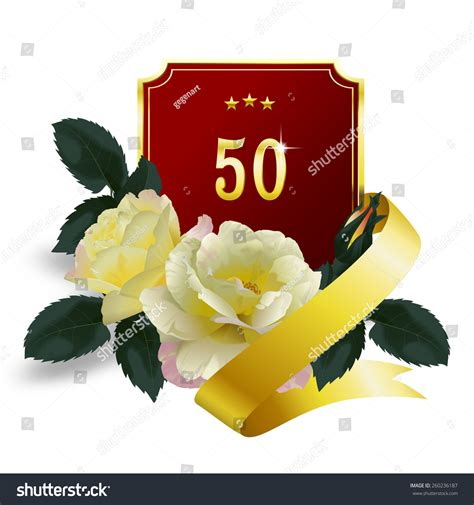 50th Anniversary Bouquet Yellow Roses Red Stock