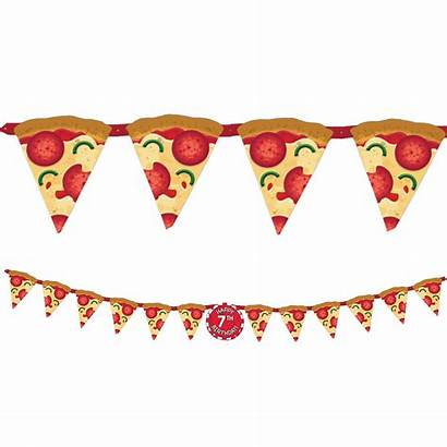 Pizza Party Banner Birthday Kit Partycity Pack