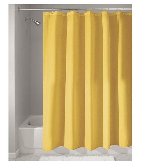 custom home decor solid yellow fabric moden shower curtain