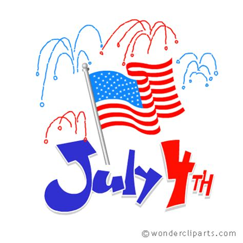 July 4th Clip Fourth Of July Clip In Black And White Clipart Panda