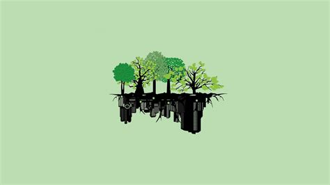 Minimalist Anime Wallpaper - anime landscape nature minimalism