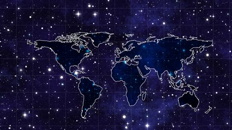wallpaper space continents map