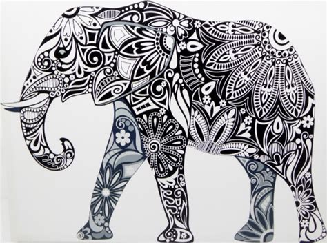Tribal Elephant Canvas Print Art And Crafts Shop Of India Wallpaper Clown Crayon Simple Best Drawings In The World Folk Usa Wood Online Dream