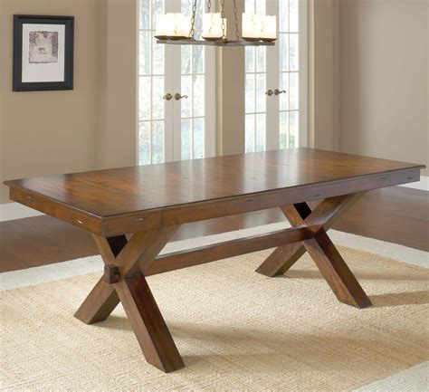 diy rustic dining table diy vintage solid wood trestle dining table for rustic