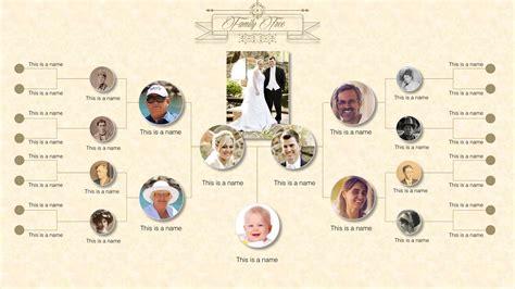 family tree diagram  powerpoint slidemodel