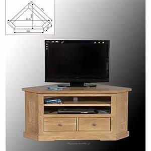 Meuble De Tv D Angle : meuble tv d 39 angle ch ne massif collioure ~ Preciouscoupons.com Idées de Décoration