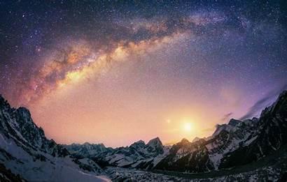 Galaxy Milky Nepal Way Sunrise Mountain Landscape