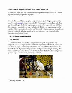 Learn How To Improve Basketball Skills With 8 Simple Tips