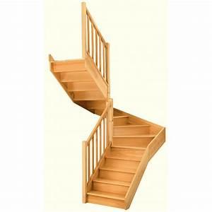 Escalier Double Quart Tournant Milieu Gauche Soft Classic