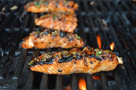 how to cook salmon on grill teriyaki garlic grilled salmon lake of the woods