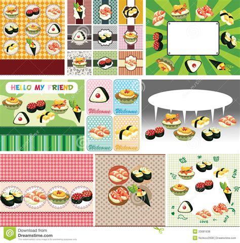 japanese food menu card royalty  stock  image