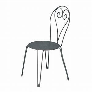 Chaise En Acier : chaise de jardin en acier romantique gris graphite leroy merlin ~ Teatrodelosmanantiales.com Idées de Décoration