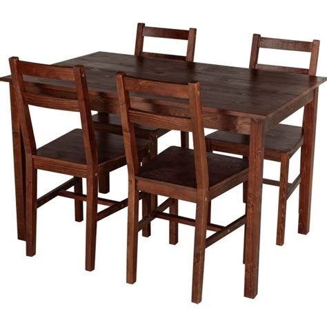 buy home raye solid wood dining table and 4 chairs