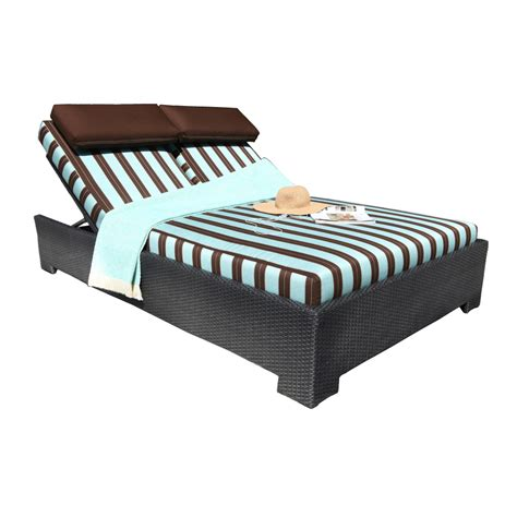 chorus deep seating wicker double chaise patio sun country