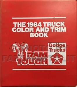 1984 Dodge Ram Van And Wagon Repair Shop Manual Original